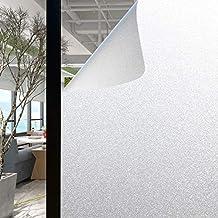 Olliwon Vinilo Cristal Ventana 60 x 400cm Película para Ventanas Privacidad Vinilos Opaco Decorativos Autoadhesivo No Adhesivo Reutilizable para Cocina Habitación Baño