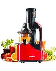 Slowjuicer groente en fruit koud persen OURSSON, BPA vrij, verticale juicer, stille motor, omkeerfunctie | draagbaar handvat, sapkan [Energieklasse A]