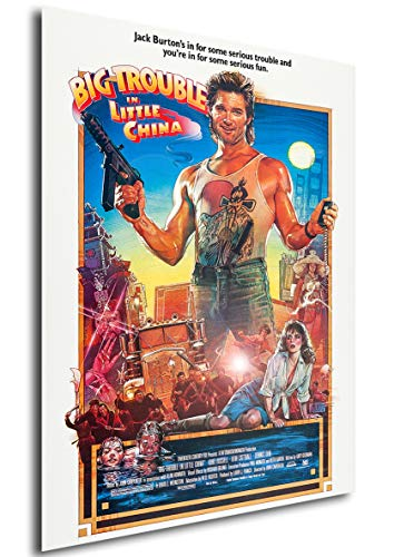Instabuy Poster Big Trouble in Little China (Golpe en la Pequeña China) Movie Poster - A3 (42x30 cm)