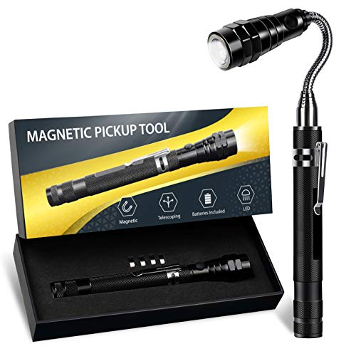 Gifts for Men on Fathers Day, Magnetic Pickup Tools for Men Women Dad Gifts, Telescopic LED Lights Gadget, Magnet Gifts for Men Who Have Everything, Birthday Gifts Idea for Dad, Boyfriend, Guy, Him