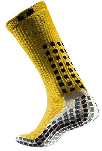 TRUSOX Mid-Calf Crew Thin Soccer Socks (Pair),Red,S