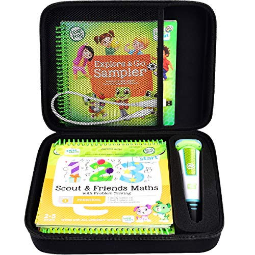 Case Compatible with LeapFrog LeapStart Go System and LeapFrog LeapStart 3D/ Pre-Kindergarten Activity Book of Level 1 2 3. Storage Carrying Holder Fits for USB Cable and Other Accesories (Box Only)