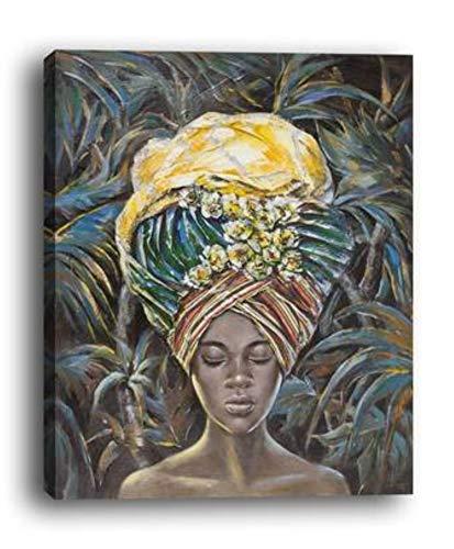 WOWDECOR - Lienzo decorativo para pared, diseño de chica africana