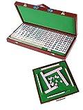 YLJYJ Mini Juego portátil Mah Jong Mesa Juego Tradicional Viaje al Aire Libre Plegable (Mantel de Mano) (Juegos de Escritorio)