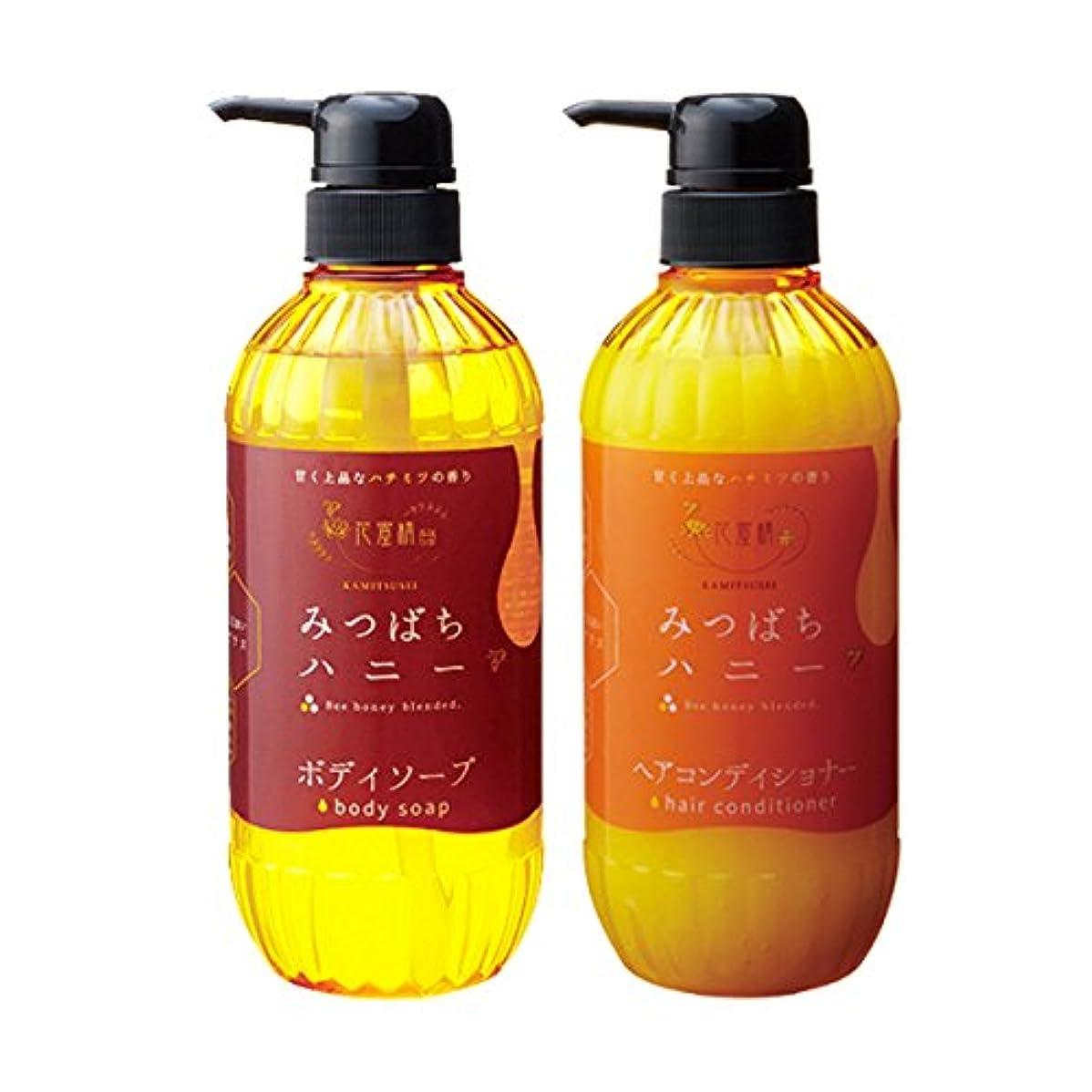 添加剤現代のコンベンション花蜜精 みつばちハニー シャンプー&ヘアコンディショナー 各500ml