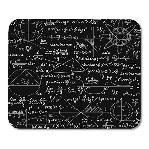 Mousepad, Mathematisch mit handschriftlichen Formeln Berechnungen und geometrischen Darstellungen Bildung Endlos Sie jede Farbe Hochwertige Mauspadmatte für Schlafzimmer Familie,25x30cm