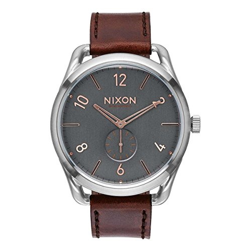 Nixon Unisex Erwachsene Digital Uhr mit Leder Armband A465-2064-00