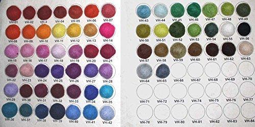 Sukhi Carta de colores – Alfombra de bolas de fieltro.
