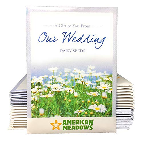 A Gift to You from Our Wedding - Daisy Flower Seed Packet Favors - Pack of 20