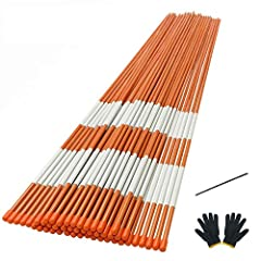 【Perfect Driveway Pole Set 】Snow Stakes Features highly reflective, durable, Fiberglass poles that are visible at night and in any weather.Knit gloves offers protection from the cold and minor hazards when you install driveway markers.The steel drill...