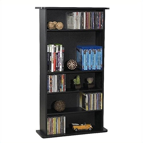 "Pemberly Row 36"" Drawbridge Multimedia Rack in Black"