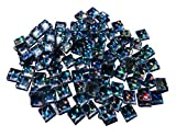 FAIRY TAIL & GLITZER FEE Aprox. 200 Piedras de Mosaico de Purpurina Autoadhesivas 1 x 1 cm, Piedras acrílicas Brillantes para Manualidades