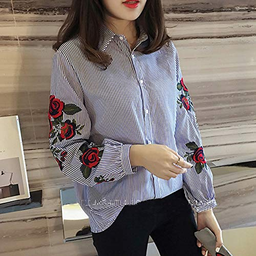 ALEIGEI Shirt Lange Mouw Zomer 2019 Nieuwe Losse Streep Blouse Casual Shirts Tops