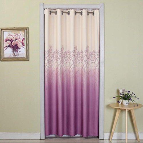 Liuyu · Maison de Vie Porte Rideau Chambre Quatre Saisons Salle de Bain Vestiaire Découpée (Couleur : Violet, Taille : 200 * 70cm)