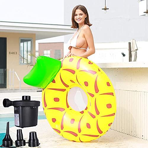 Patchwork Boya Inflable Gigante Flotador de Piscina Inflable Grande Adecuado para Piscina Inflable de Playa para niños o Adultos con Bomba de Aire