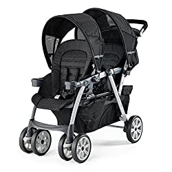 Double stroller for infant and toddler Chicco