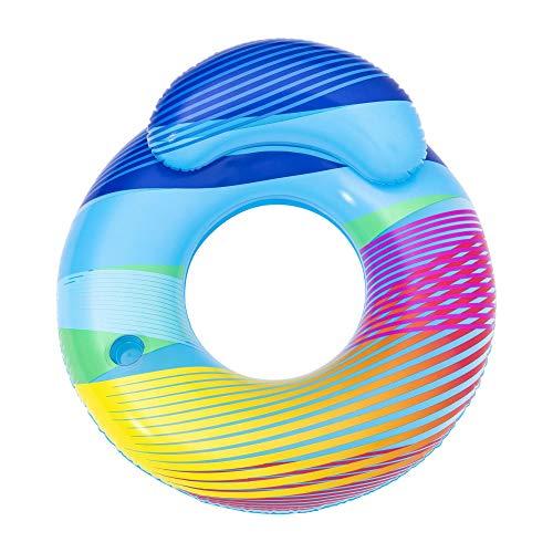 Bestway 43252 Schwimmring Swim Bright mit LED-Licht 254 x 142 cm, Color