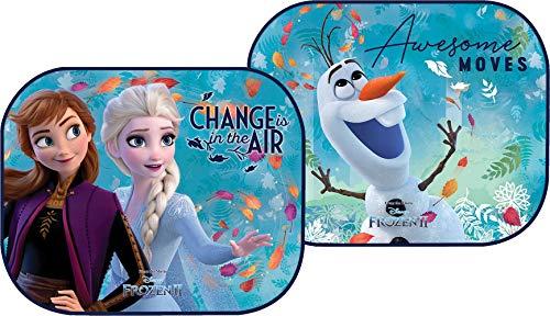 Disney Frozen Coppia di tendine laterali parasole auto Frozen II Elsa Anna e Olaf bambine