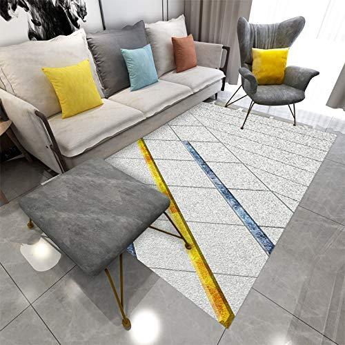 QWEASDZX Salotto Tavolino da Salotto in Stile Nordico Tappeto per Capelli Camera da Letto Comodino Imbottito Spesso Tappeto Antiscivolo 160x230cm