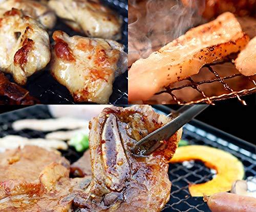 秀撰焼肉セット(3品入り)[800g] 骨付き牛カルビ 霜降りトントロ 佐賀県産ありた鶏の切り身 (ギフト 贈り物にも)