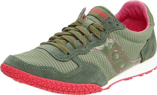Saucony Originals Women's Bullet Fashion Sneaker,Green/Pink,5.5 M US