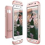 CE-Link Funda Samsung Galaxy S7, Carcasa Fundas para Samsung Galaxy S7, 3 en 1 Desmontable Ultra-Delgado Anti-Arañazos Case Protectora - Oro Rosa