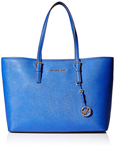 Gorgeous weather resistant Saffiano Leather with gold hardware Measures approx. 18 inch (W top) x 11 inch (H) x 6 inch (D) Fully lined interior with center zip pocket and two divided main compartments; multifunction pockets Two adjustable leather han...