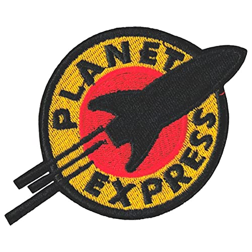 """Futurama Planet Express Iron Sew On Embroidered Patch Badge Costume Fancy Dress Approx:4.4""""/10.5cm x Approx: 3""""/7.5 cm"""