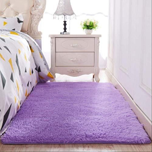 AINIYUE Faux Pelz Schaffell Teppich, Verdickte Haare rutschfest Teppich Wohnzimmer Couchtisch Decke Schlafzimmer Nachtdecke Matte Yoga Teppiche Solide Farbe Plüsch 140x200cm 14