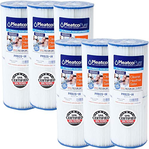 Pleatco 6 Stück Filterkartusche Kartusche Whirlpool Filter Lamellenfilter Kartuschenfilter PRB25-IN