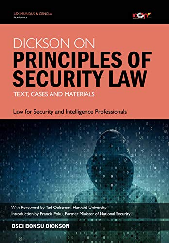 Dickson on Principles of Security Law: Text, Cases and Materials (Icon Law Series) (English Edition)