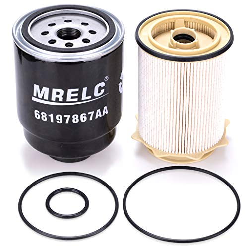 MRELC Dodge Ram 6.7L Cummins Diesel Fuel Filter Water Separator Set for 2013-2018 Dodge Ram 2500 3500 4500 5500 6.7L Turbo Diesel Engines(Replaces# 68197867AA, 68157291AA)