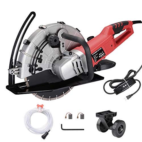 Yescom 14 inch Electric Concrete Saw Disc Cutter Wet Dry Circular Saw Stone Cutter Saw Blade for Granite Stone