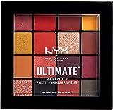 NYX Professional Makeup Paleta de sombra de ojos Ultimate Shadow Palette, Pigmentos compactos, 16 sombras, Acabados mate, satinados y metalizados, Tono: Phoenix