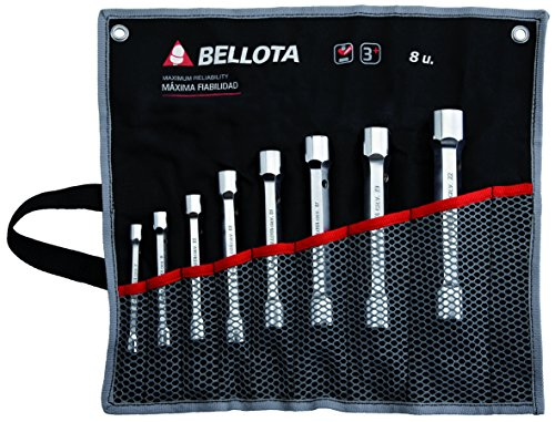 Bellota 6494-8 BS Bolsa Tubo 8, Standard, 8 llaves