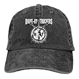 VTIUA Gorra Hombre Béisbol Retro Snapback Unisex Jeans Hat Drive by Truckers Lightweight Breathable Soft Baseball Cap Sports Cap Adult Trucker Hat Mesh Cap