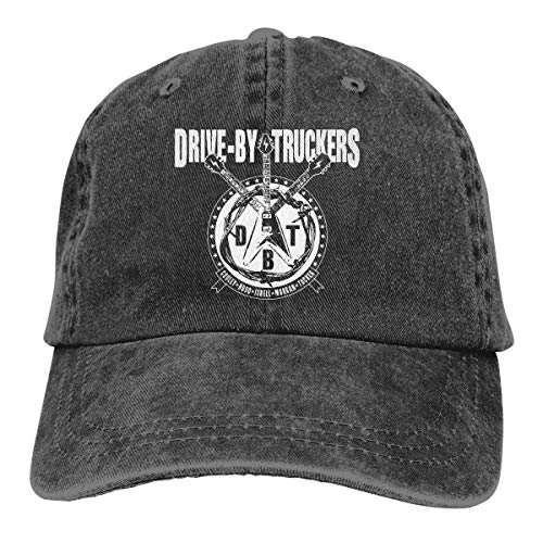 VTIUA Gorra Hombre Béisbol Retro Snapback Unisex Jeans Hat Drive by Truckers Lightweight Breathable Soft Baseball Cap Sports Cap Adult Trucker Hat Mesh Cap
