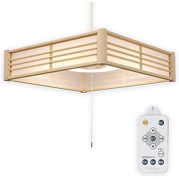 アイリスオーヤマ LED ペンダントライト 8畳 調光 調色 和風 省エネ リモコン付き PLM8DL-J
