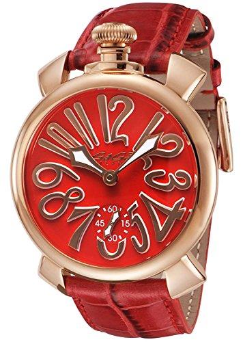 GaGaMilano Reloj MANUALE48MM Dial rojo cuerda manual 5011.13S-RED Mercancías de importación paralela para hombres]