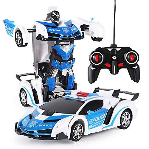 InBest RC Transformer Robot car, Remote Control Action Deformation Figure, Remote Controlled car Kids Toy, Transform Robot RC car, for Children Kids Gift