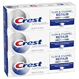 Crest Gum & Enamel Repair Toothpaste, Advanced Whitening, 4.1oz (Pack of 3) ( Packaging May Vary )