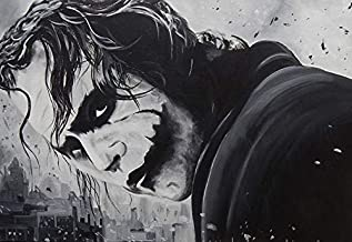 """The Joker in Black & White. Large 24""""×36"""" Size. The Perfect Poster Gift Toobi Poster"""
