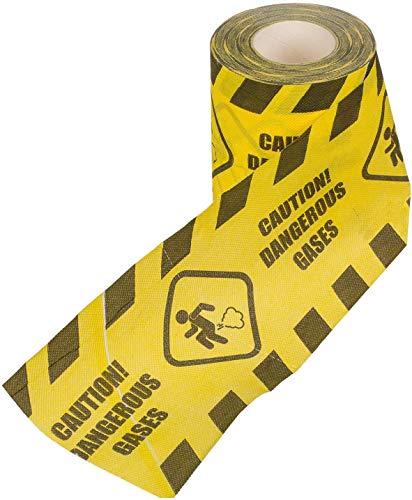 KMC Austria Design Toilettenpapier mit Aufdruck - Caution! Dangerous Gases in Gelb/Schwarz - Klopapier WC-Papier