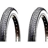 ONOGAL 2X Cubierta Kenda Neumatico Negro y Blanco 26' x 1 1/2 650B 40-584 Bicicleta 3581