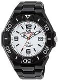 シチズン Q Q 腕時計 アナログ 電波 ソーラー 防水 日付 ウレタンベルト HG14-304 メンズ ホワイト