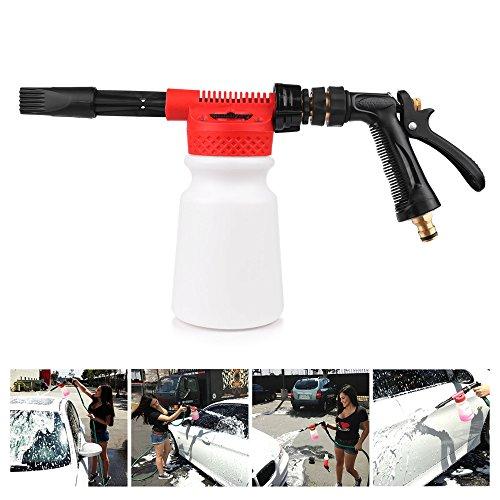 ALLOMN Snow-Foam-Lance-Auto-Reinigungspistole, 2 in 1 900ML Auto Reinigungs Wasch Waschspray Schnee Schaum Lanze Wasserpistole Reinigungspistole mit 6 Verdünnungsverhältnis