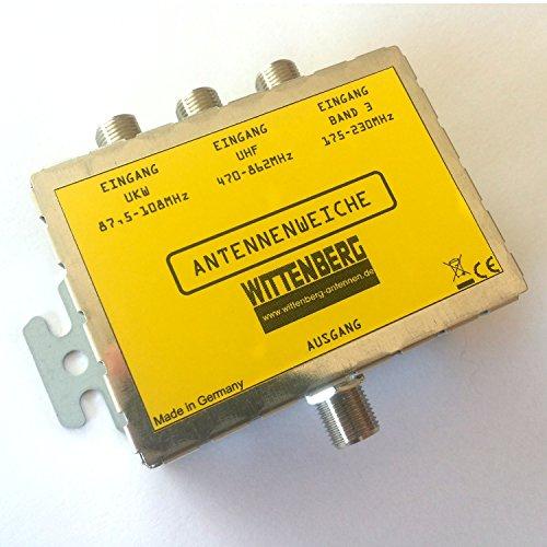 Wittenberg Antennenweiche 3 in 1 für UKW, DAB und UHF