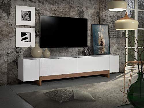 möbelando TV-Lowboard Fernsehtisch Unterschrank HiFi Element Schrank Rack Fantasia I