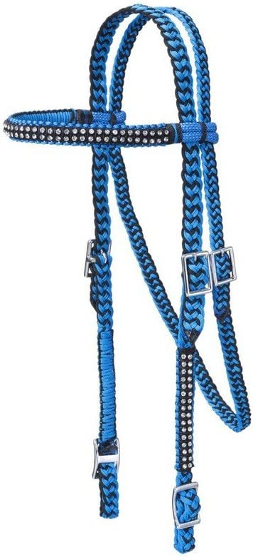Tough-1 Braided 最安値 Brow 安売り Headstall w Crystals
