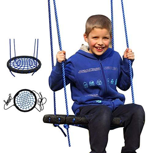 HYISHION Oscilación del árbol, Columpio Nido al Aire Libre for los niños, 23' Ronda platillo Swin 400 Libras Capacidad de Peso, (2 mosquetones Correas no Incluido), de fácil instalación SKYJIE